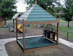 Peskovniki za otroke naj imajo tudi streho